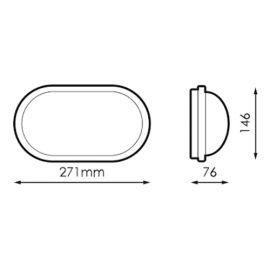 Apliques de exterior LED PRILUX Aplique led oval blanco Lucca 18W 840 IP65 Prilux