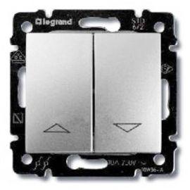 Doble Pulsador persianas Aluminio Brillante Legrand Valena 770114
