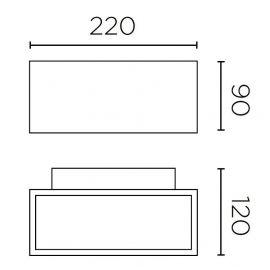 Apliques de exterior LED LEDS C4 Aplique exterior Afrodita gris 11,5W Leds C4 05-9912-34-CL