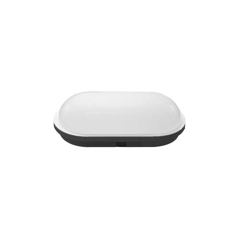 Apliques de exterior LED PRILUX Aplique led oval negro Lucca 18W 840 IP65 Prilux