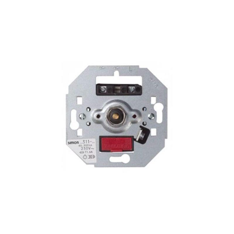 Mecanismos SIMON Regulador-interruptor de luz giratorio 300W Simon 75311-39 series 75 82 88