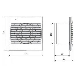 SOLER Y PALAU SOLER Y PALAU Extractor para baño Decor-100 C S&P