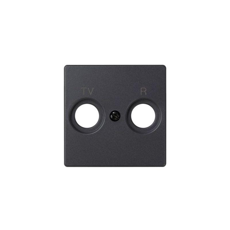Interruptores y Enchufes por marca SIMON Tapa toma R-TV grafito Simon 82053-38