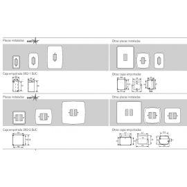 Interruptores y Enchufes por marca BJC Marco 2 elementos estrechos blanco BJC Rehabitat 16662-B - reemplazo Estrella
