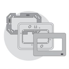 Interruptores y Enchufes por marca BJC Marco 4 elementos estrechos plata BJC Rehabitat 16664-DR - reemplazo Estrella