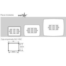 Interruptores y Enchufes por marca BJC Marco 3 elementos estrechos beige BJC Rehabitat 16663-A - reemplazo Estrella