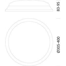 Regletas y Apliques LED DISANO Plafón superficie led Tortuga 17W 3000K Disano