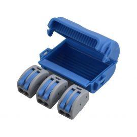 Caja empalmes aislada en gel 3 conectores 2 polos Shellbox333