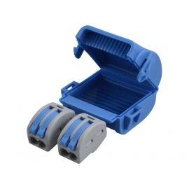 Caja empalmes aislada en gel 2 conectores 2 polos Shellbox222