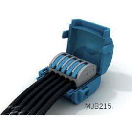 Caja empalmes aislada en gel 5 conectores 1 polos Shellbox215