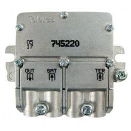 Mezclador MATV-FI 2 entradas 1 salida Televes 745220