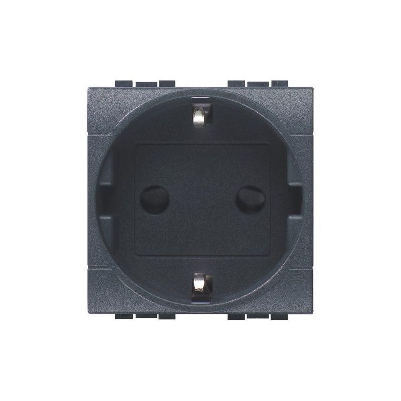Interruptores y Enchufes por marca BTICINO Base enchufe schuko 2P+T antracita Bticino Livinglight L4141