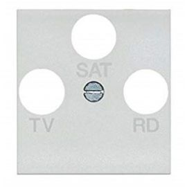 Tapa para toma TV-SAT color blanco Livinglight N42