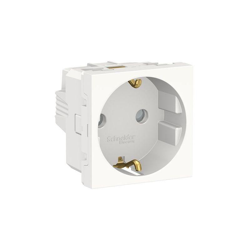 Interruptores y Enchufes por marca SCHNEIDER Enchufe Schuko blanco polar Schneider New Unica NU303718