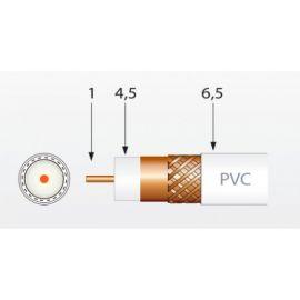 Cable coaxial y Accesorios TELEVES Cable coaxial blanco cobre-aluminio CXT 250 metros Televes