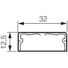 Canaletas LEGRAND Canaleta 2,1 metros 32x12,5mm DLPlus Legrand