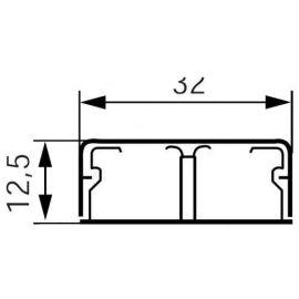 Canaletas LEGRAND Canaleta 2,1 metros 32x12,5mm con tabique DLPlus Legrand
