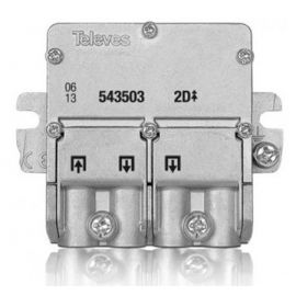 Mini repartidor 2 salidas EasyF Televes 543503