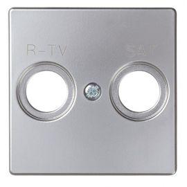 Tapa toma R-TV+SAT aluminio mate 82097-33 Simon 82