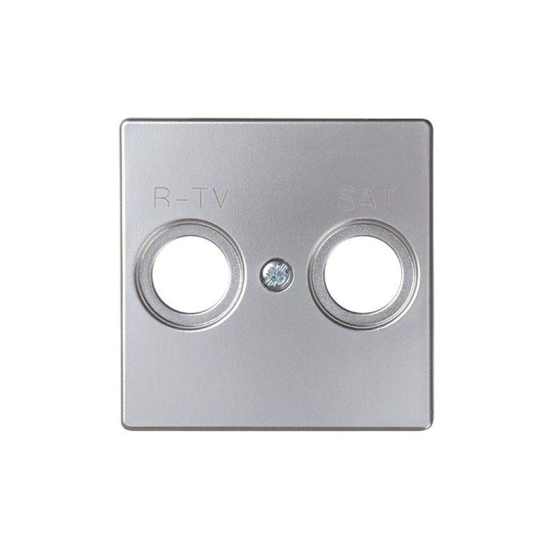 Interruptores y Enchufes por marca SIMON Tapa toma R-TV+SAT aluminio mate 82097-33 Simon 82