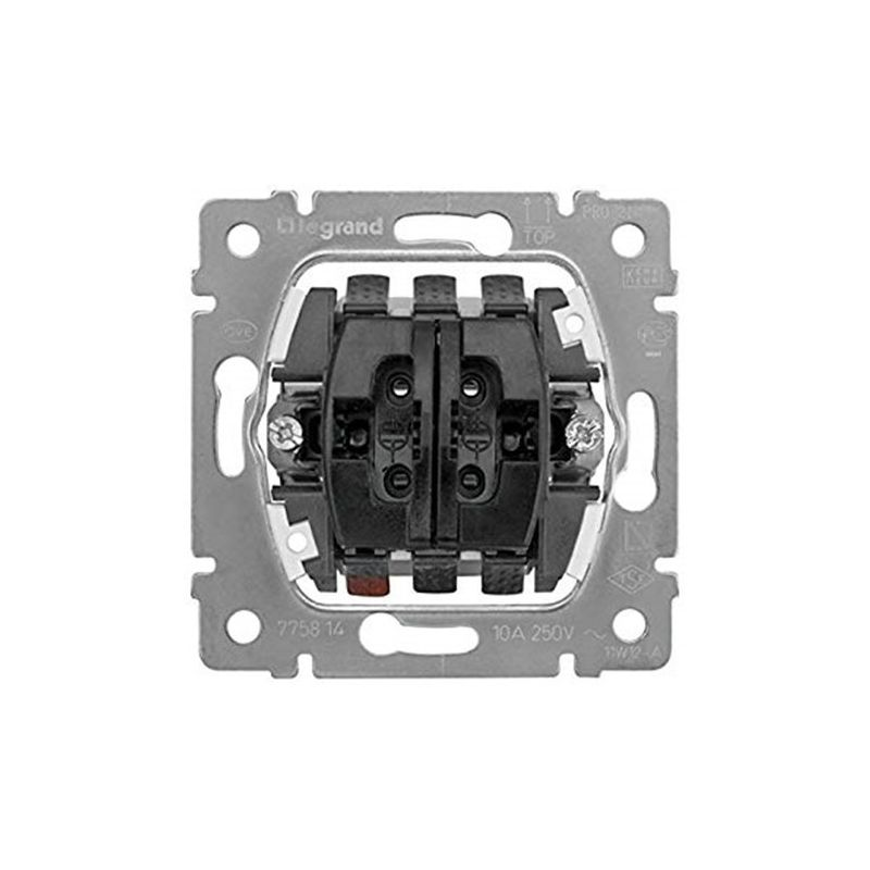 Interruptores y Enchufes por marca LEGRAND Pulsador doble persianas 10A 230 v Legrand Galea Life 775814