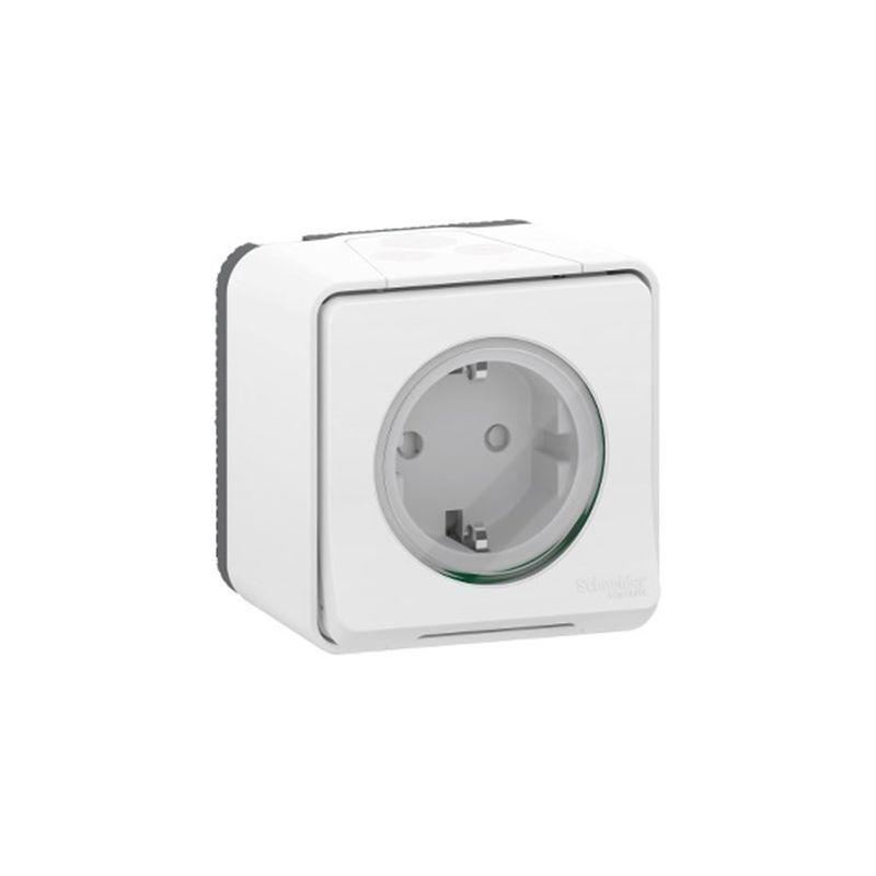 Interruptores y Enchufes por marca SCHNEIDER Enchufe schuko 2P+TT blanco monobloc Schneider Mureva Styl MUR39206
