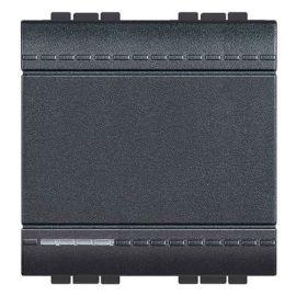 Interruptor 16A ancho antracita Bticino LivingLight  L4001M2A