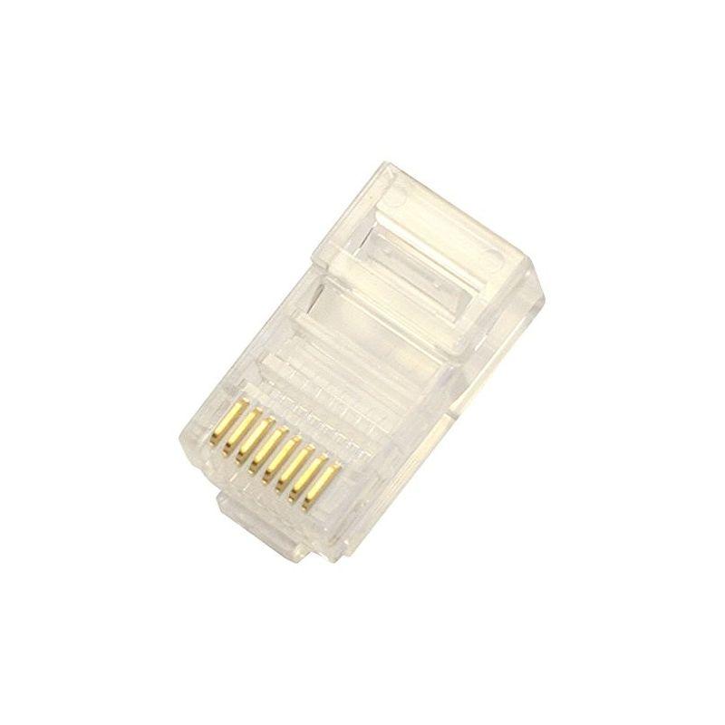 Conectores RJ45 AVAL Conector RJ45 cat. 6 macho 8 contactos