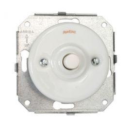 Pulsador de botón porcelana blanco Fontini Garby Colonial 31-310-17-2