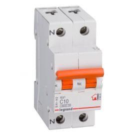 Interruptor Automático Magnetotérmico 1P+N 10A Legrand 419925 RX3 Vivienda