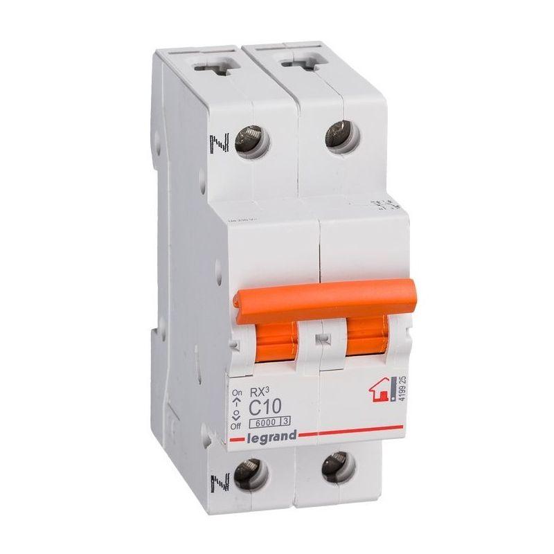 Interruptores magnetotérmicos LEGRAND Interruptor Automático Magnetotérmico 1P+N 10A Legrand RX3 Vivienda