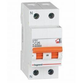 Interruptor Automático Magnetotérmico 1P+N 25A Legrand 419928 RX3 Vivienda