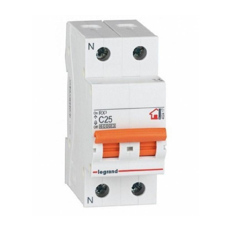 Interruptores magnetotérmicos LEGRAND Interruptor Automático Magnetotérmico 1P+N 25A Legrand RX3 Vivienda