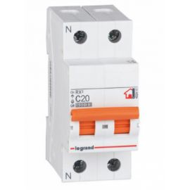 Interruptor Automático Magnetotérmico 1P+N 20A Legrand 419927 RX3 Vivienda