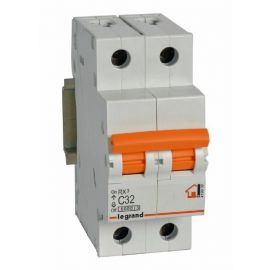 Interruptor Automático Magnetotérmico 2P 32A Legrand RX3 Vivienda