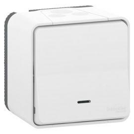 Interruptores y Enchufes por marca SCHNEIDER Pulsador blanco monobloc LED señalizacion Schneider Mureva Styl MUR40010