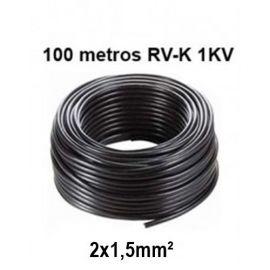 Rollo 100m Manguera 2X1,5mm RV-K0.6/1KV Negra Prysmian