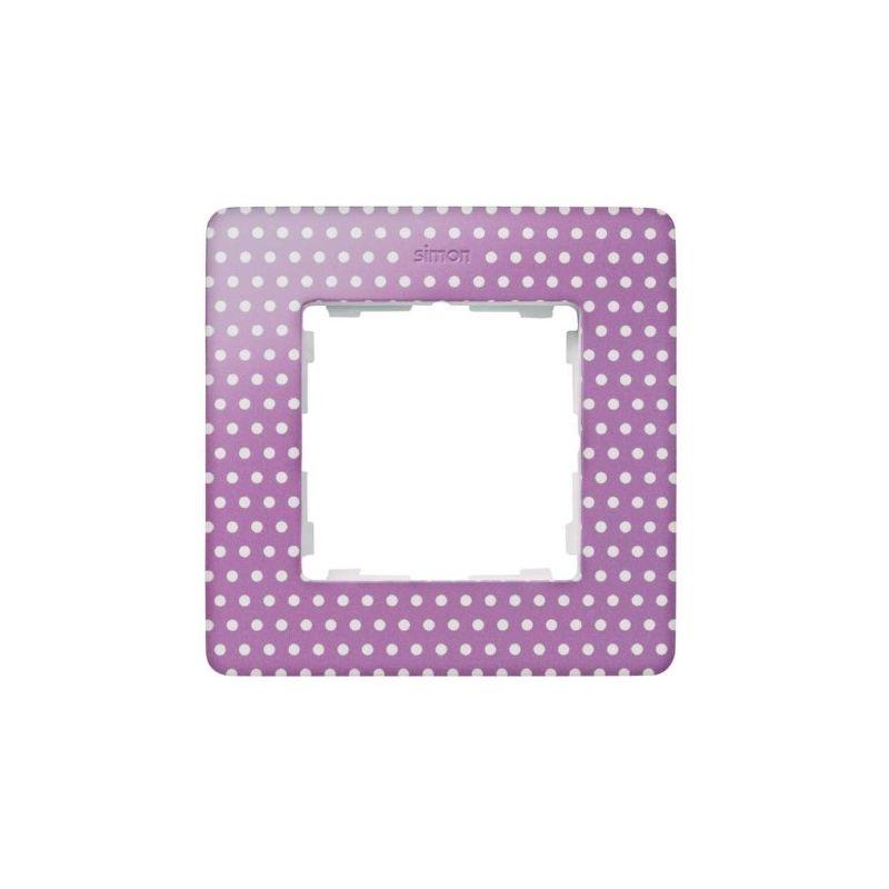 Interruptores y Enchufes por marca SIMON Marco 1 elemento Simon 82 Detail Imagine topos rosa pastel 8200610-213