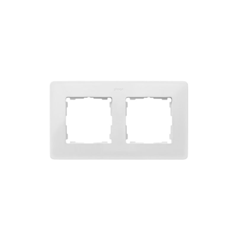 Interruptores y Enchufes por marca SIMON Marco 2 elementos Simon 82 Detail Original blanco base negra 8200620-200