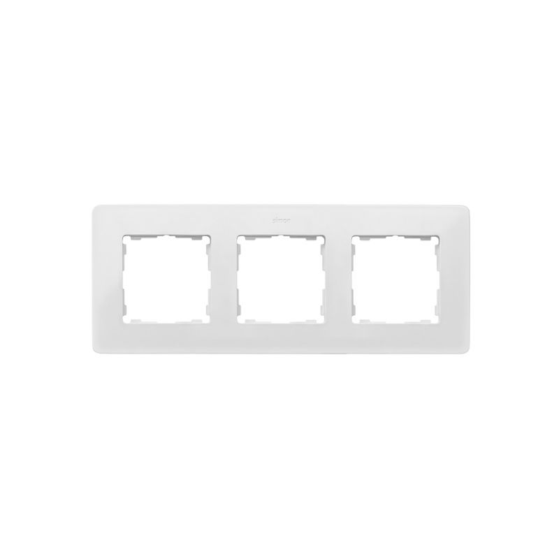 Interruptores y Enchufes por marca SIMON Marco 3 elementos Simon 82 Detail Original blanco base negra 8200630-200