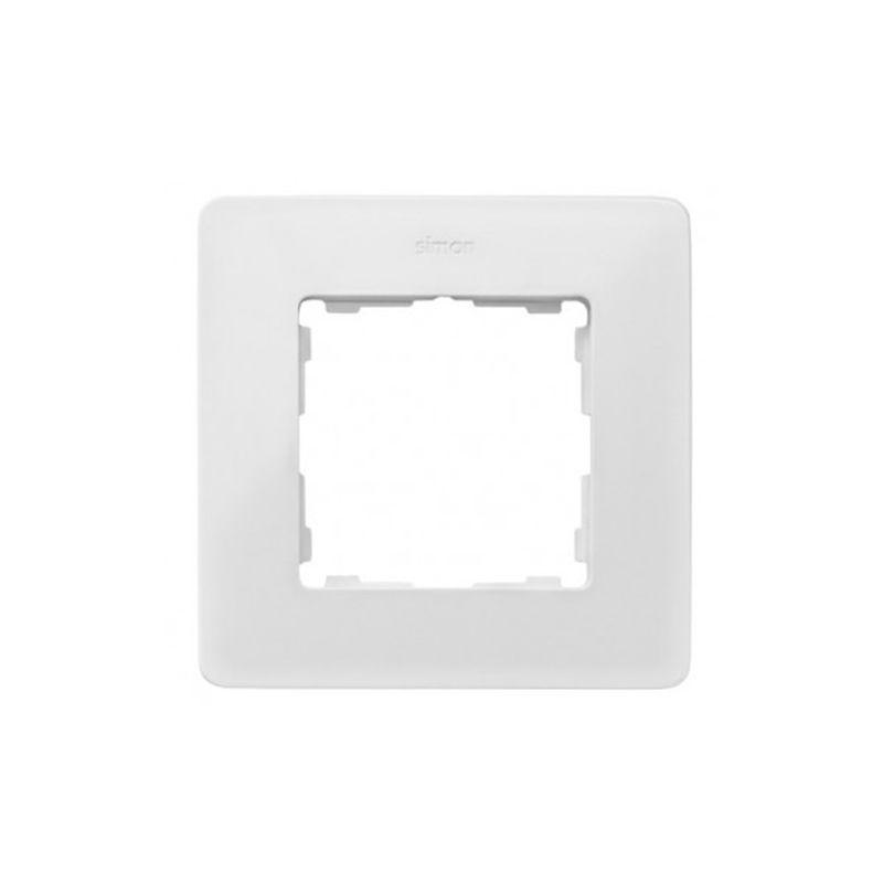 Interruptores y Enchufes por marca SIMON Marco 1 elemento Simon 82 Detail Original blanco base negra 8200610-200