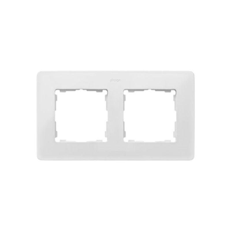 Interruptores y Enchufes por marca SIMON Marco 2 elementos Simon 82 Detail Original blanco base azul índigo 8200620-201