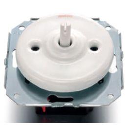 Conmutador porcelana blanco sin manecilla Fontini Garby Colonial 31-308-17-1