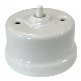 Conmutador porcelana blanco sin manecilla Fontini Garby 30-308-17-1