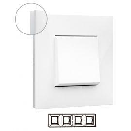 Marco 4 elementos blanco con lateral opal Valena Next 741004