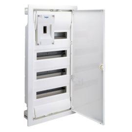 Caja empotrable 4 filas ICP+42M puerta blanca Hager VU48ICP