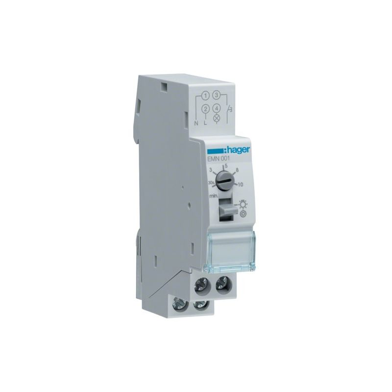 Categorias HAGER Minutero de escalera 16A 230V 1 contacto NA Hager EMN001