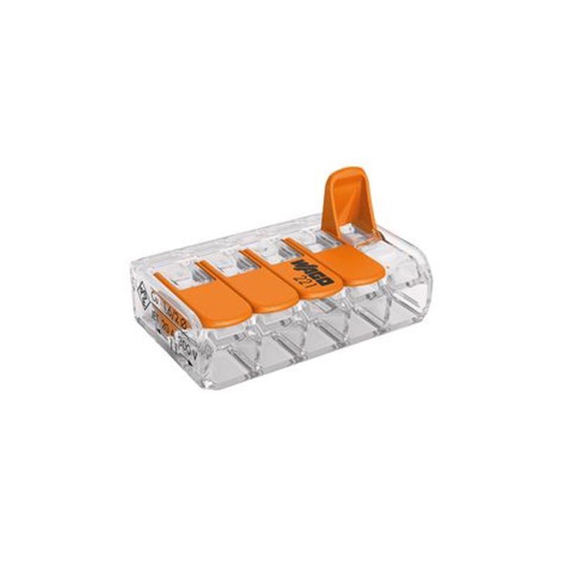 Categorias WAGO Conector de empalme compacto 4mm 5 contactos Wago