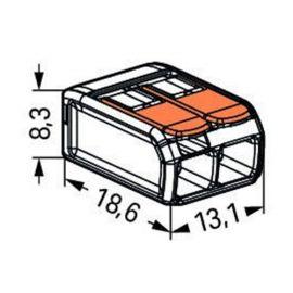 Categorias WAGO Conector de empalme compacto 4mm 2 contactos Wago