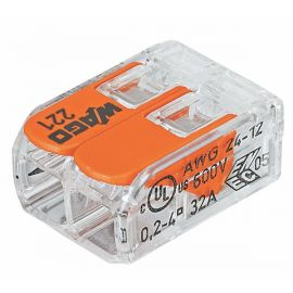 Conector de empalme compacto 4mm 2 contactos Wago